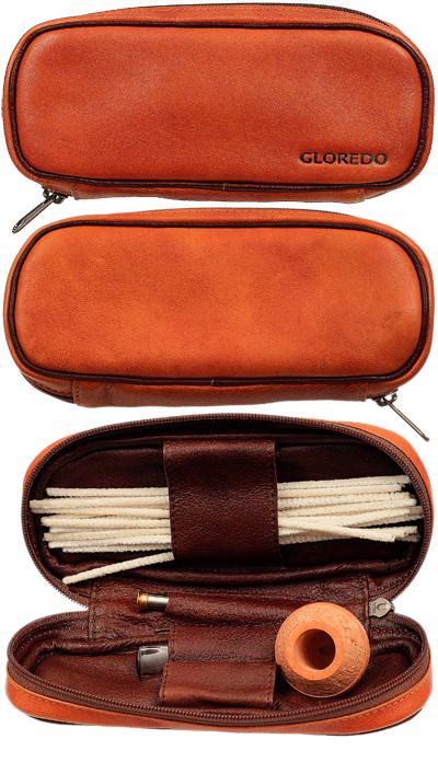 Pipe Accessories Gloredo 2 Pipe Bag Tan