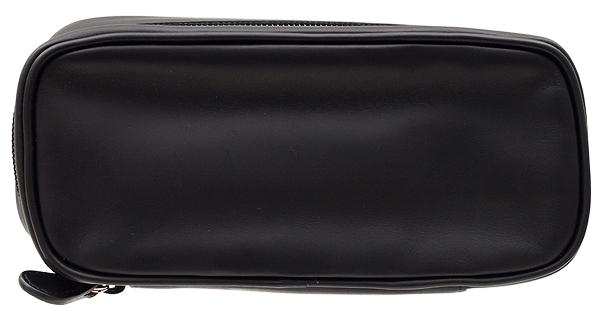 Castello Leather 2 Pipe Tobacco Pouch Black