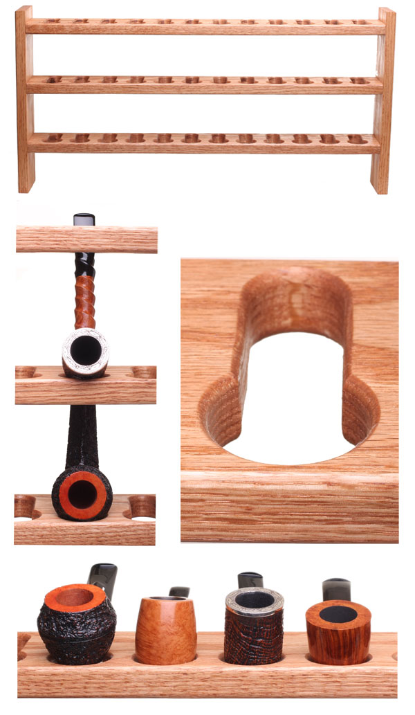 Pipe Furniture Keyhole Pipe Rack (24/36 pipes)