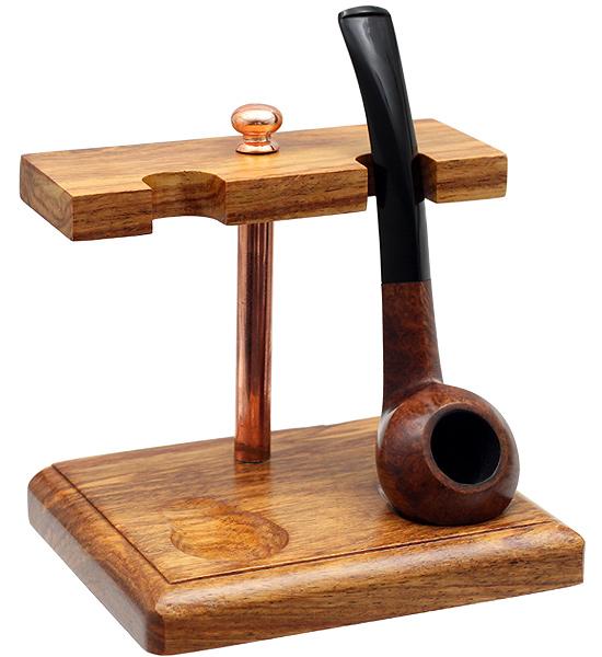 Eastern Walnut 2 Pipe Stand