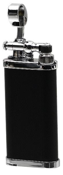 Lighters IM Corona Old Boy Black & Chrome Engine Turned