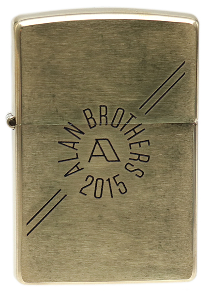 Lighters Alan Brothers Brass Zippo Pipe Lighter