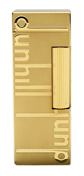 Lighters Dunhill Rollagas Signature Gold Plate