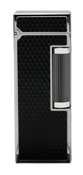 Lighters Dunhill Rollagas Diamond Pattern Black Resin