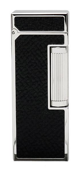 Lighters Dunhill Rollagas Bourdon Black Cowhide Palladium Plate