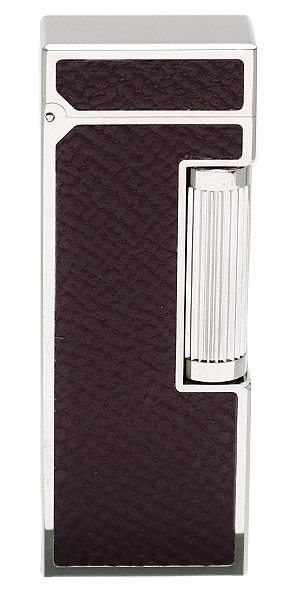 Lighters Dunhill Rollagas Bourdon Burgundy Cowhide Palladium Plate