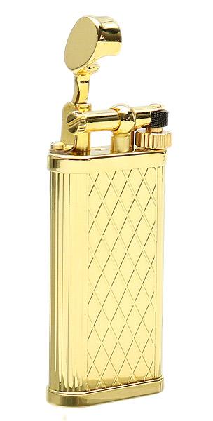 Lighters Dunhill Unique Crosspatch Gold Plate