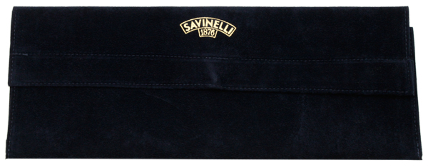 Pipe Accessories Savinelli Velvet Long Pipe Pouch Blue