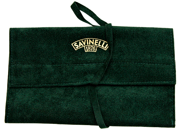 Pipe Accessories Savinelli Velvet Pouch Green