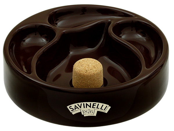 Ashtrays Savinelli Ceramic 3 Pipe Brown Ashtray