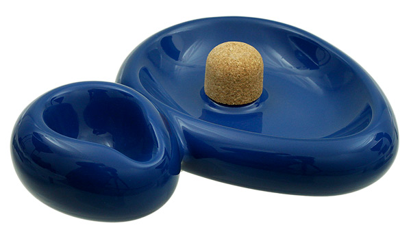 Ashtrays Savinelli Ceramic 1 Pipe Sidecar Blue Ashtray
