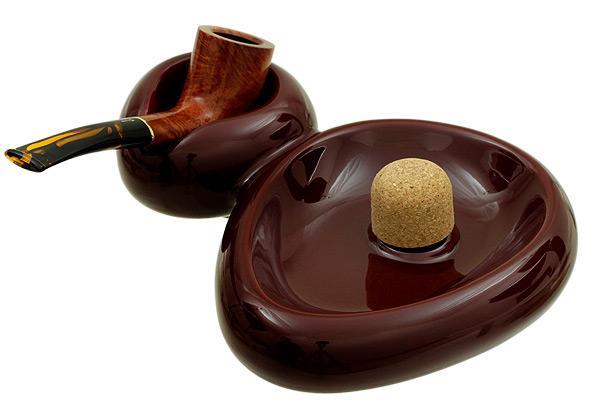 Ashtrays Savinelli Ceramic 1 Pipe Sidecar Bordeaux Ashtray