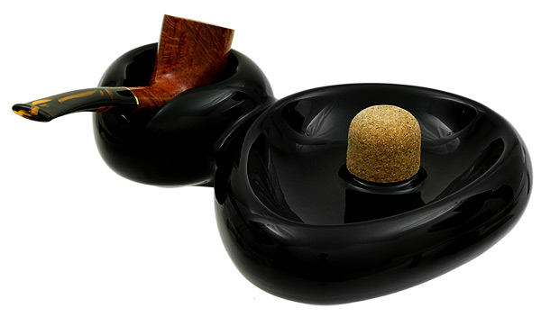 Ashtrays Savinelli Ceramic 1 Pipe Sidecar Black Ashtray