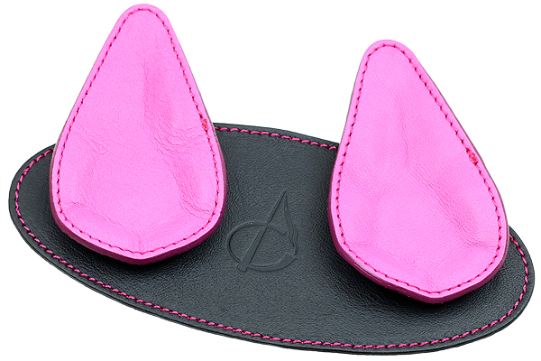 Pipe Accessories Claudio Albieri 2 Pipe Leather Magnetic Stand Black/Pink
