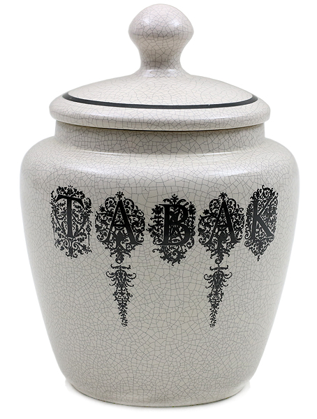 "Pipe Accessories Savinelli Small Antique Ceramic Tobacco Jar ""Tabak"""
