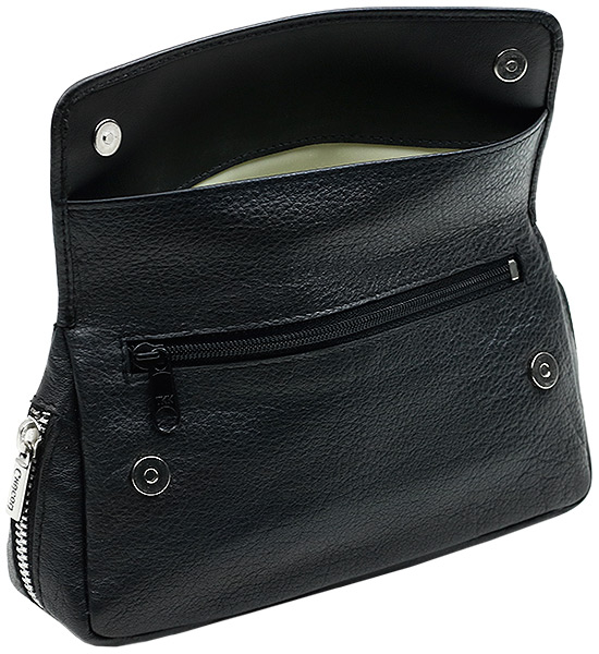 Pipe Accessories Chacom Black Leather 2 Pipe Bag with Pouch