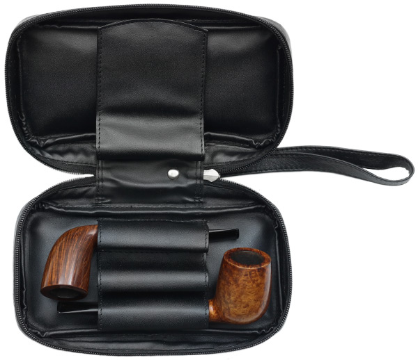 Pipe Accessories Chacom Black Leather 3-in-1 Case