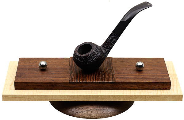 Pipe Accessories Scott Tinker Maple and Walnut and Bacote 3 Pipe Stand