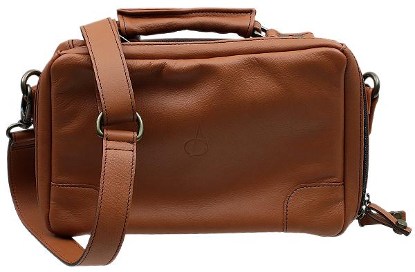 Pipe Accessories Claudio Albieri Italian Leather 4 Bag Russet