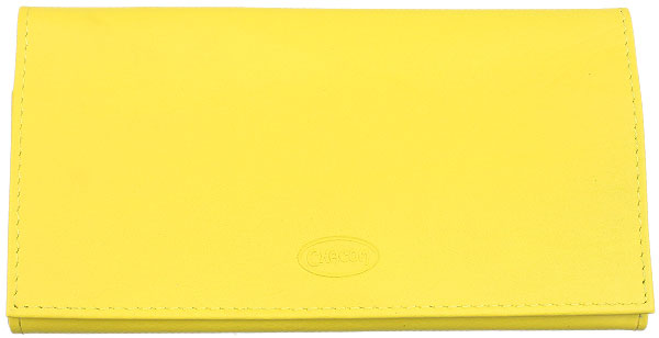 Pipe Accessories Chacom Leather Roll Up Pouch Yellow