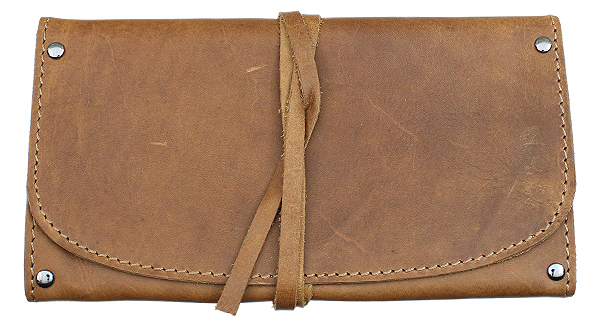 Pipe Accessories Antique Brown Folding 1 Pipe Pouch