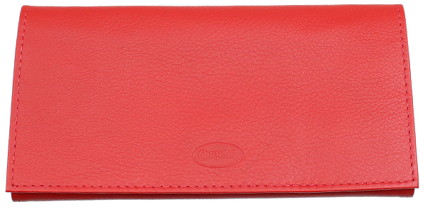 Chacom Leather Roll Up Pouch Red