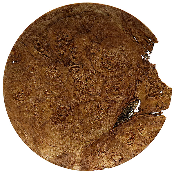 Scott Tinker 6 Inch Sandblasted Maple Burl Tobacco Plate