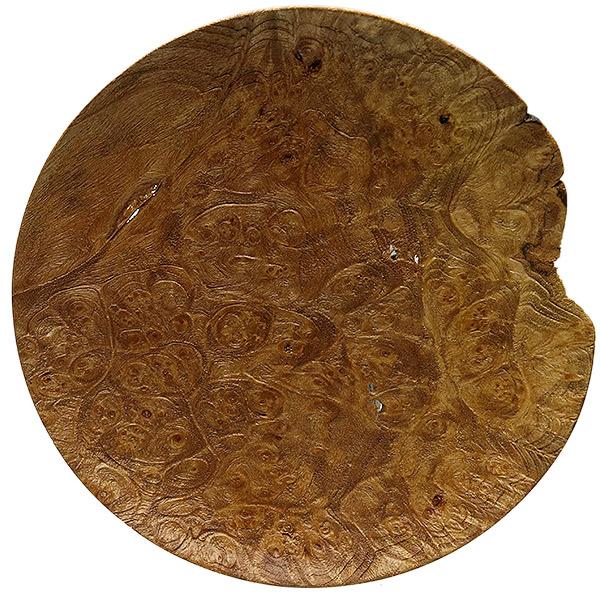 Scott Tinker 7 Inch Sandblasted Maple Burl Tobacco Plate