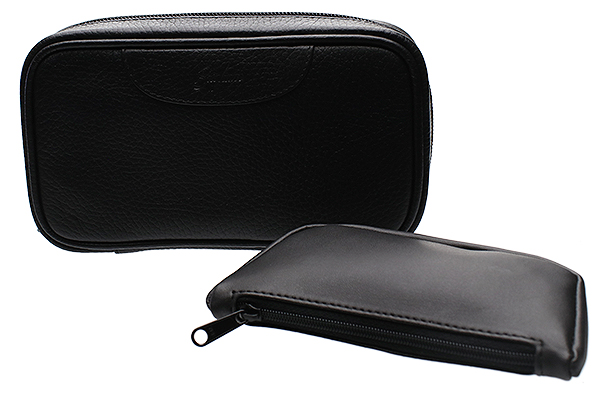 Pipe Accessories Brigham 2 Pipe Bag with Tobacco Pouch Black