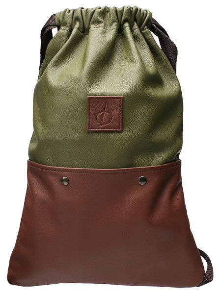 Pipe Accessories Claudio Albieri Italian Leather Backpack for 3 Pipes Olive/Chestnut