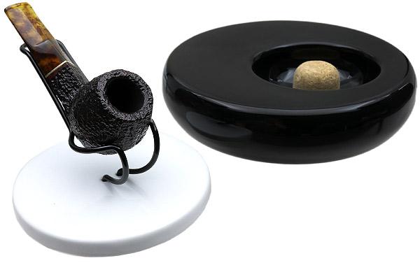 Ashtrays Savinelli Black/White Ashtray with Pipe Stand Top