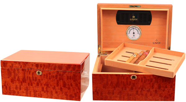 Cigar Accessories Savoy Beetlewood Large Humidor