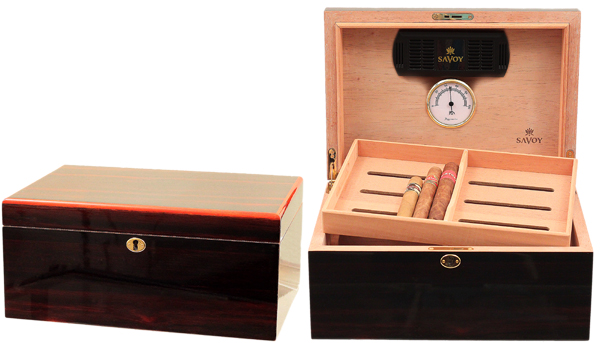 Humidors & Travel Cases Savoy Macassar Large Humidor