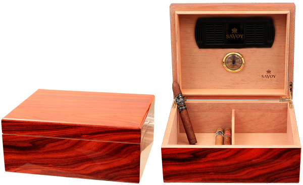 Cigar Accessories Savoy Rosewood Medium Humidor