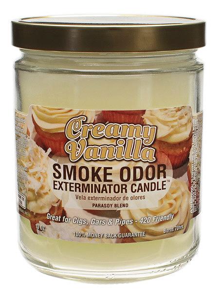 Air Fresheners Smoke Odor Exterminator Candle Creamy Vanilla 13oz