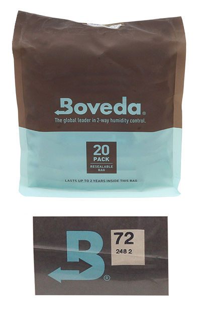 Cigar Accessories Boveda Humidity Control Packets 72% 20 Pack