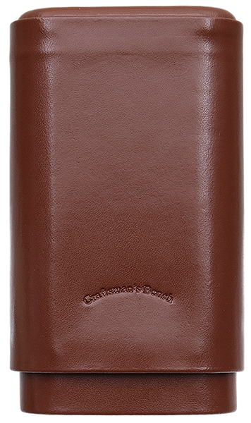 Craftsman's Bench Cigar Case Robusto Tan