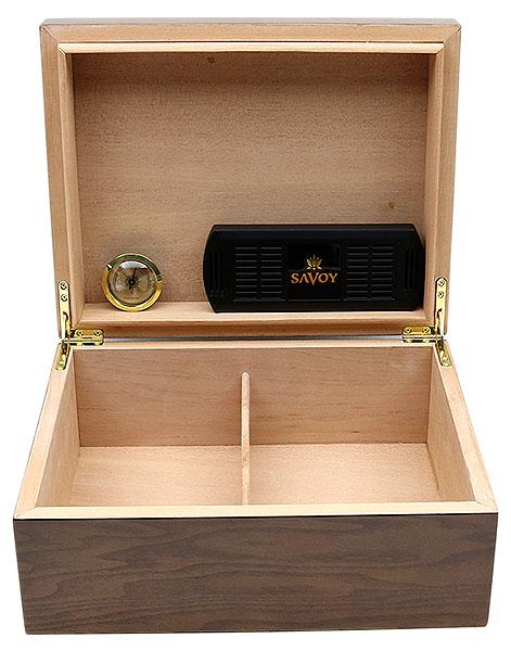 Cigar Accessories Savoy Ash Burl Medium Humidor