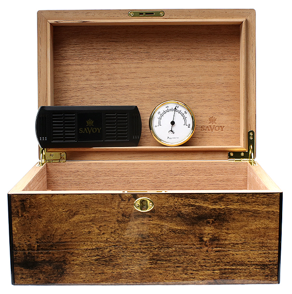 Cigar Accessories Savoy Mesquite Large Humidor