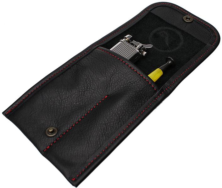 Smokingpipes Gear Claudio Albieri Smokingpipes.com Leather Accessory Pouch Black