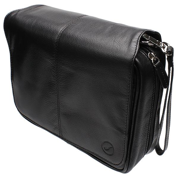Smokingpipes Gear Smokingpipes.com Leather 4 Pipe Bag Black