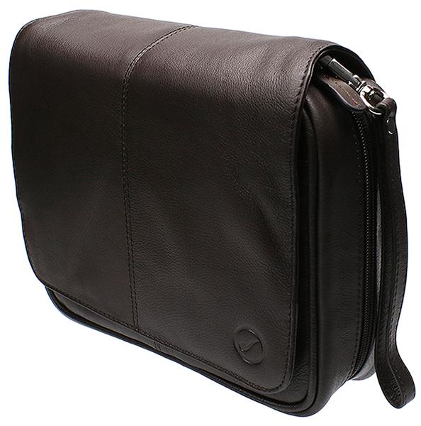 Smokingpipes Gear Smokingpipes.com Leather 4 Pipe Bag Dark Brown