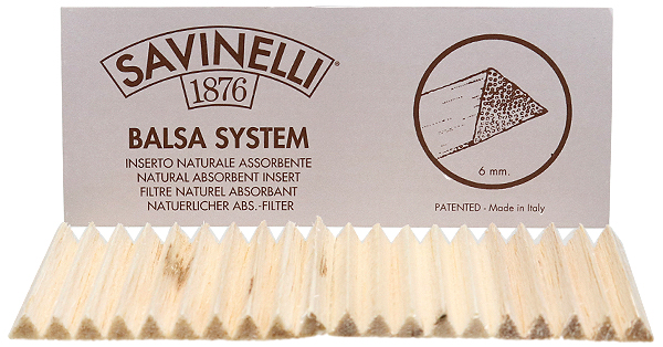 Pipe Supplies Savinelli 6mm Balsa Filters (20/pack)