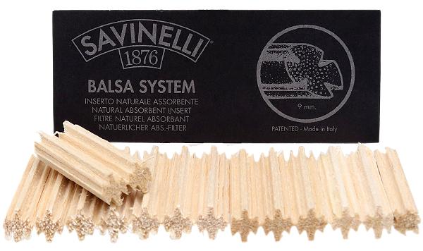 Pipe Supplies Savinelli 9mm Balsa Filters (15 pack)