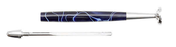 Pipe Supplies 8deco Classic Tamper Midnight Blue with Blue Swirl