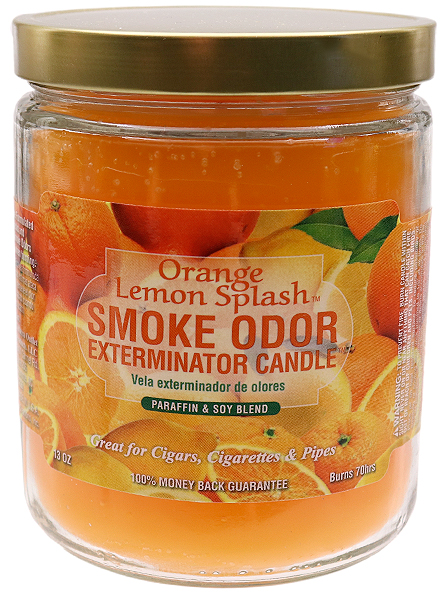 Air Fresheners Smoke Odor Exterminator Candle Orange Lemon Splash 13oz