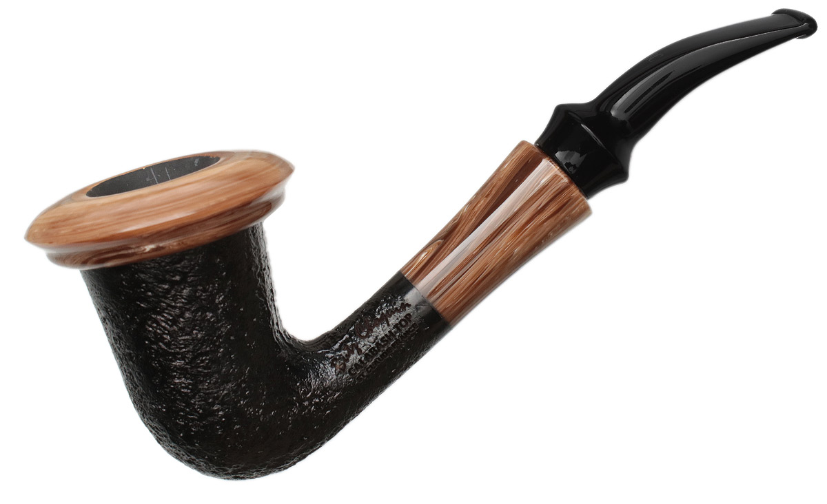 Butz-Choquin Calabash Sandblasted with Dark Top