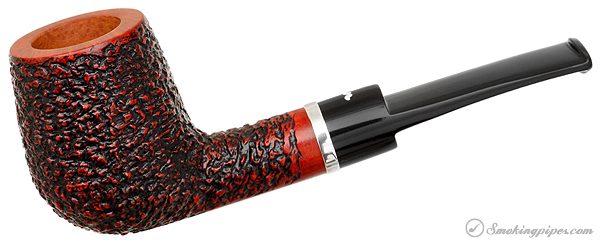 Caminetto Rusticated Bent Billiard with Silver Ring (08) (AR)
