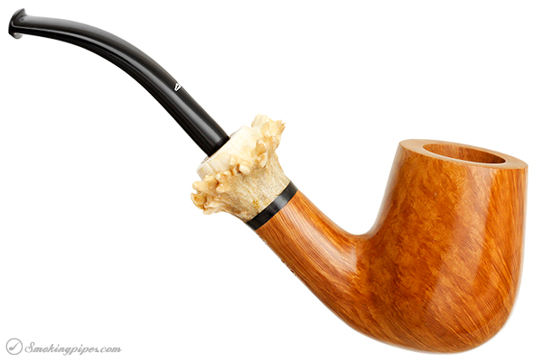 Caminetto Smooth Bent Billiard with Antler (AT)