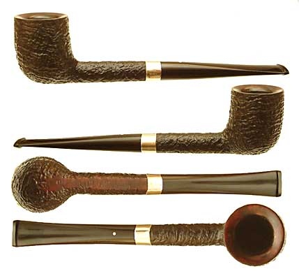 Shell Briar Billiard  (4110) with 10mm Silver Band